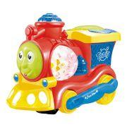 Trem de Brinquedo Bate e Volta Com Luzes Dm Toys