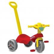 Triciclo Tico - Tico Com Haste Vermelho - Bandeirante 686