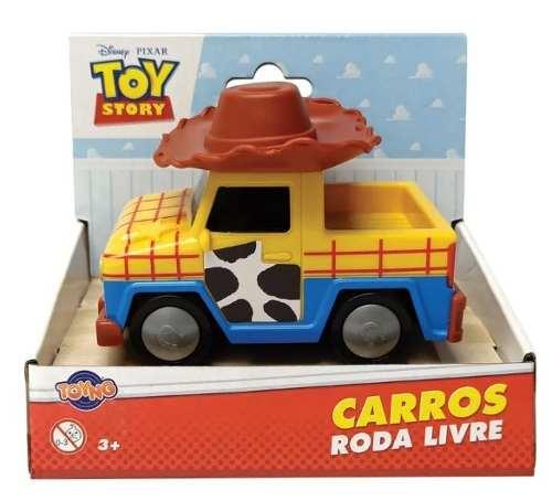 Carrinho Toy Story Personagens Veículo Roda Livre 12cm -Toyng