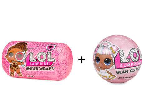 Lol Capsula Under Wraps e Lol Glam Glitter Original New