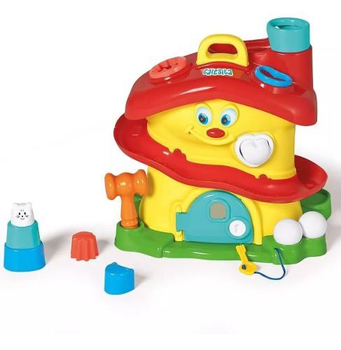 Casinha Atividades Brinquedos Educativos Calesita 11pç 0714