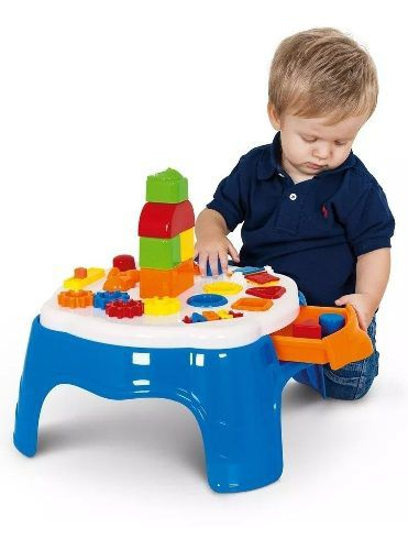 Brinquedo Mesa De Atividades Play Time - Azul - Cotiplás FULL