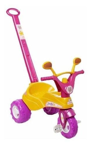Triciclo Star Girl Rosa Com Cabo P/ Empurrar - Cotiplás 1464 FULL