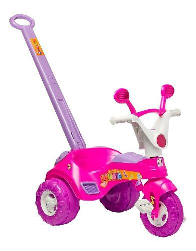 Triciclo Motoca Baby Music Rosa - Cotiplás 1802 FULL