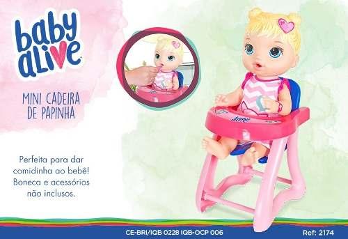 Baby Alive Cadeirão De Papinha Pequeno - Cotiplás 2174 FULL