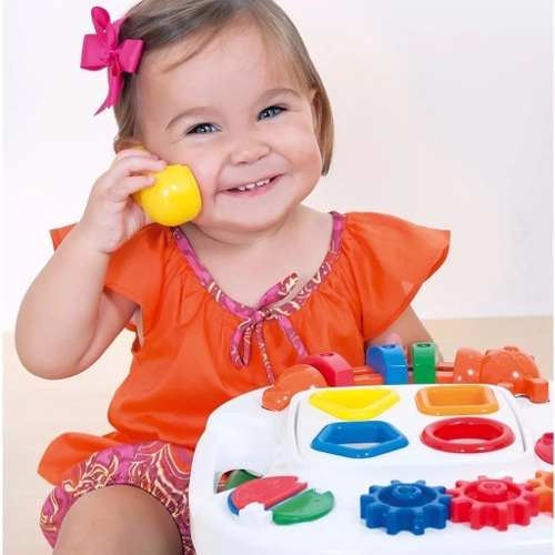 Mesa Didática Pedagógica Infantil Criança Play Time Cotiplas