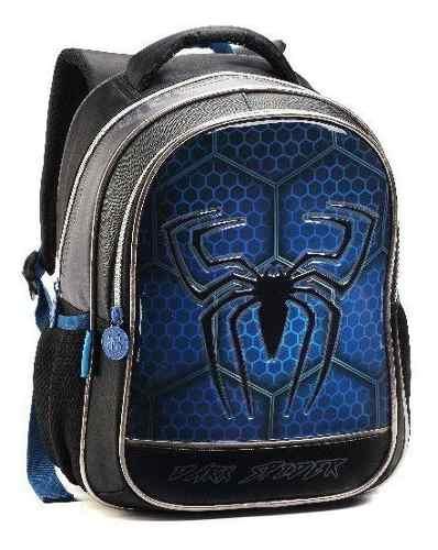 Mochila Infantil 35cm Aranha Dark Spider - Denlex Dl0623 FULL