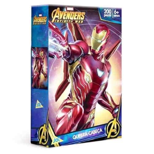 Quebra-cabeça Homem De Ferro 200 Peças Os Vingadores - Toyster