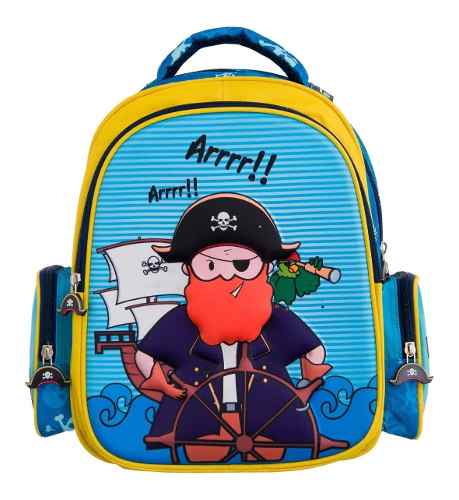 Mochila Infantil Pirata Aventureiro 37cm - Yins Ys42014
