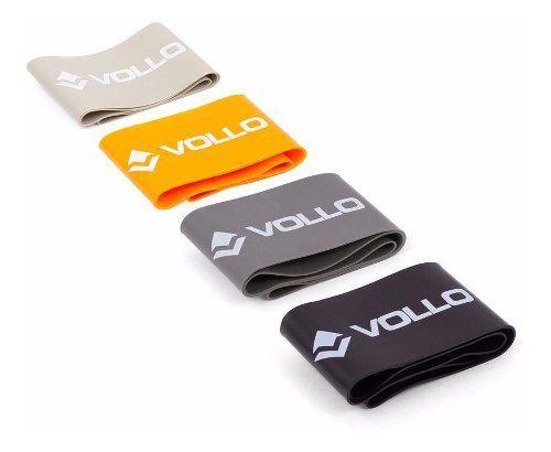 Conjunto 4 Faixas De Exercicio 5cm - Vollo Vp1081 FULL