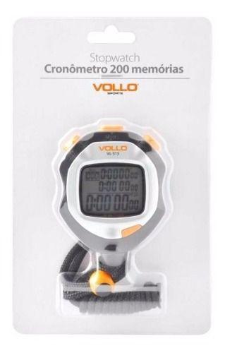 Cronometro Profissional Vollo Com 200 Memórias - Vl515 FULL