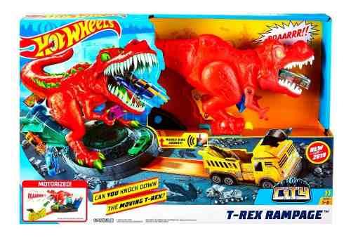Pista Hot Wheels City T-rex Demolidor - Mattel - Gfh88 FULL