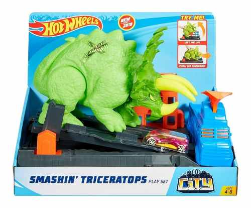 Pista Hotwheels Ataque De Triceratops Mattel Gbf97 FULL