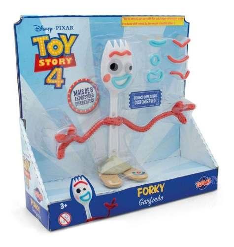 Forky Garfinho 16cm Toy Story 4 Disney - Toyng  FULL L