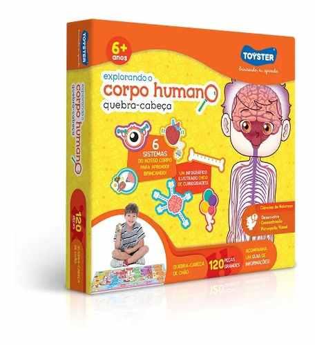 Quebra Cabeça 120 Peças Explorando O Corpo Humano - Toyster FULL L