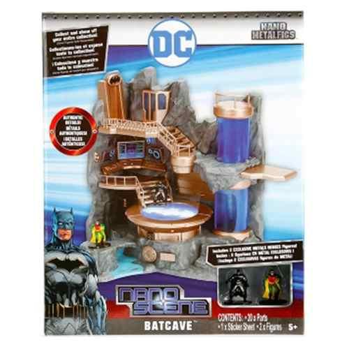 Cenário Batcaverna Dc Comics Nano Scenes Jada Metal - Dtc