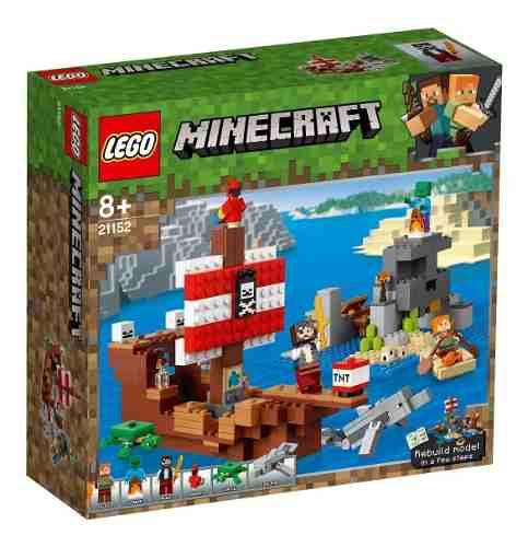 Lego Minecraft A Aventura Do Barco Pirata 386 Pçs - 21152 FULL