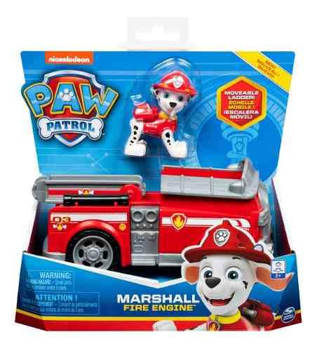 Brinquedo Figura E Veículo Patrulha Canina Marshall Sunny FULL