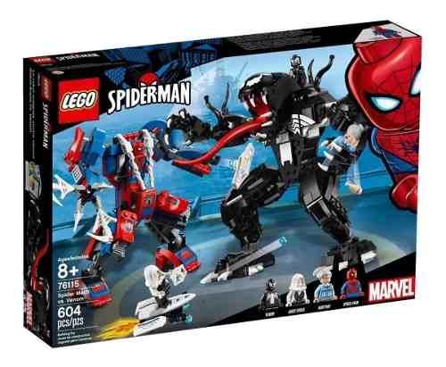 Lego Homem Aranha - Robô-aranha Vs Venom - 604 Peças FULL
