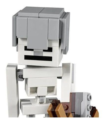 Lego Minecraft - Esqueleto Grande Com O Cubo Magma 142 Peças FULL