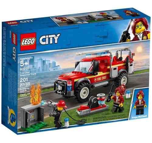 Lego City - Caminhão Do Chefe Dos Bombeiros - 201 Peças FULL