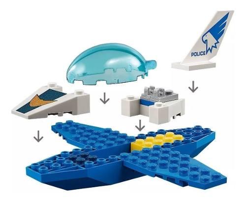 Lego City - Original Patrulha Aérea - 54 Peças - 60206 FULL