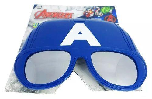 Oculos Infantil Marvel Avengers Uv-400 Capitão America Dtc