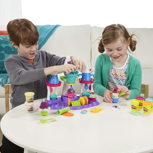 Play Doh Massinha Castelo De Sorvete 6 Potes Original Hasbro