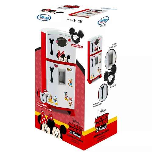 Refrigerador Duplex Xalingo Mickey Mouse, Branco/vermelho