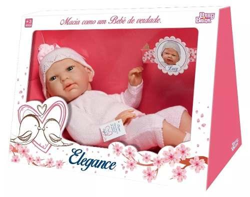 Bebe Reborn Boneca Lucy Vinil Elegance - Baby Brink