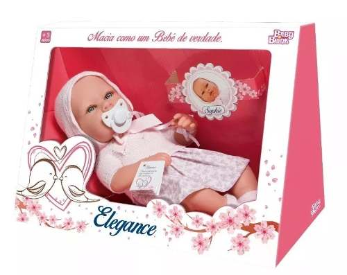 Bebe Reborn Boneca Sophie Vinil Elegance - Baby Brink