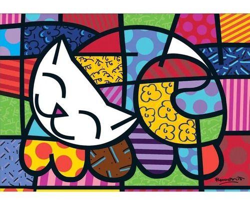 Quebra Cabeça Romero Brito Cat 1000 Peças - Grow 3264 FULL