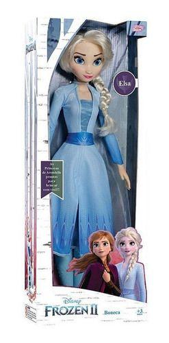 Boneca Elsa Frozen 2 - 55 Cm Baby Brink - 1741 FULL