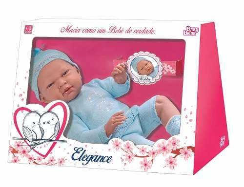 Bebe Reborn Boneco Robbie Menino Vinil - Baby Brink