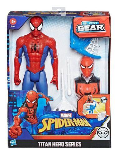 Boneco Homem Aranha Blast Gear Armadura E Lançador - Hasbro