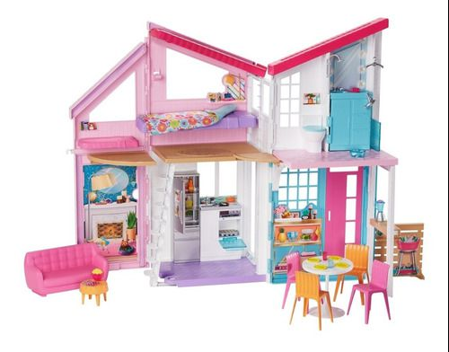 Barbie Casa Malibu +25 Acessórios Original Mattel - Fxg57 FULL