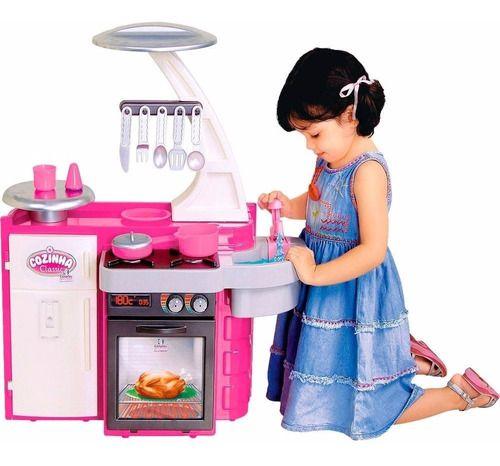 Cozinha Infantil Classic Pia Fogão Armário - Cotiplás full