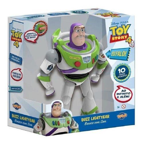 Boneco Buzz Lightyear Fala 10 Frases Toy Story 4 - Toyng