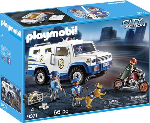 Playmobil City Action Carro Policiais E Bandidos Sunny full