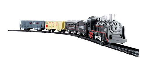 Pista Ferrorama De Trem Locomotiva Som E Luz - Dmtoys