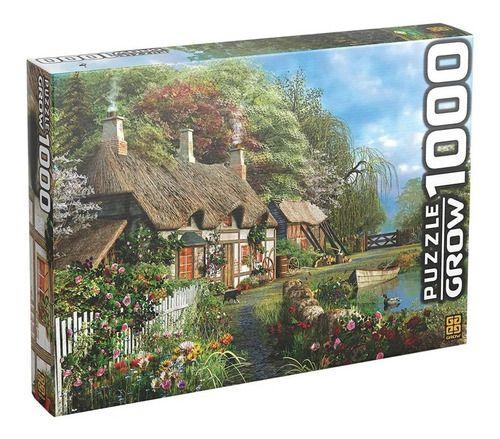 Quebra Cabeça Casa No Lago 1000 Peças Original - Grow