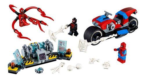 Lego Homem Aranha Spider Man Moto Do Homem-aranha 235 Peças FULL