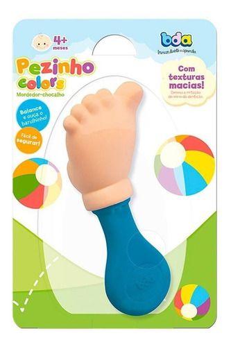 Chocalho Mordedor Colorido Pézinho Bda - 2288 FULL