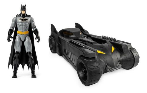 Batman Boneco E Carro Batmovel 40cm Original - Sunny full