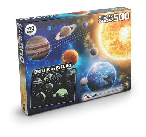 Quebra Cabeça Sistema Solar 500 Peças Original - Grow full