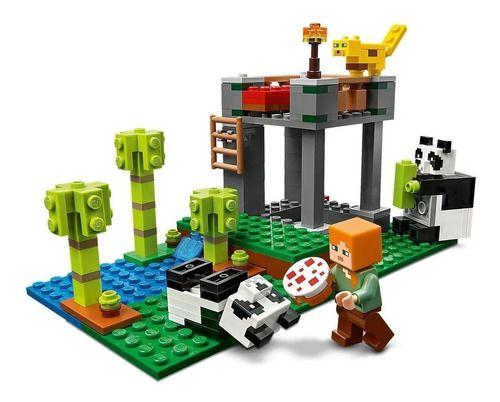 Lego Minecraft - A Creche Dos Pandas 204 Peças - 21158 full