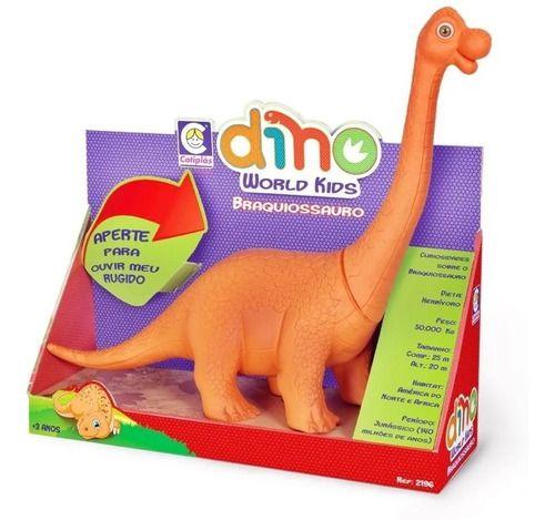 Dinossauro Braquiossauro Dino World Kids - Cotiplas