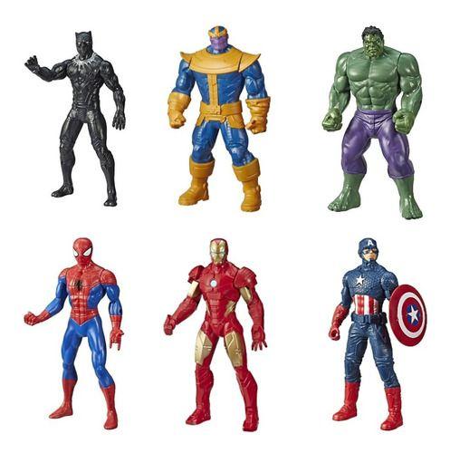 Bonecos Vingadores 6 Unidades Marvel 25cm Original - Hasbro