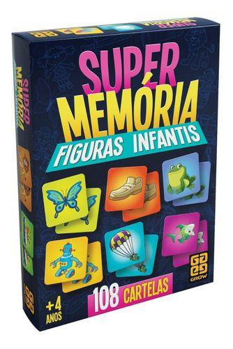 Jogo Super Memória Figuras Infantis Original - Grow full