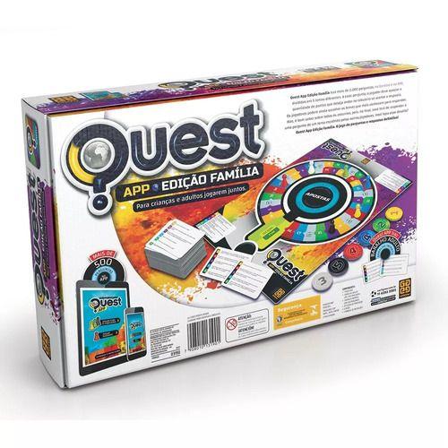 Jogo De Tabuleiro Quest Edição Família App Original - Grow FULL